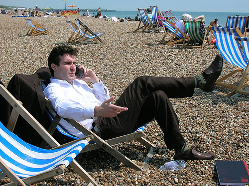 never wear socks to the beach - working holiday rules IWH